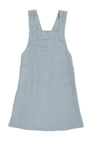 Linge Particulier Japanese apron linen - adult scandinavian blue