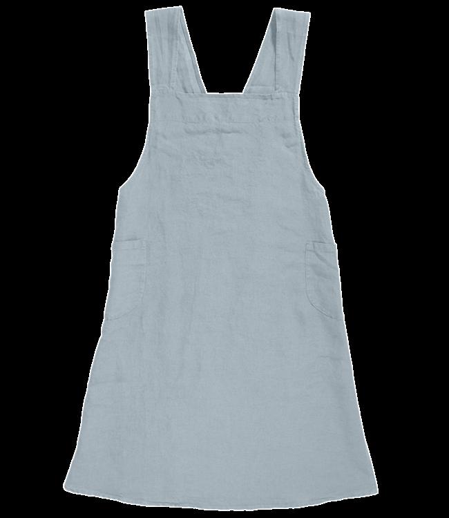 Japanese apron linen - adult scandinavian blue