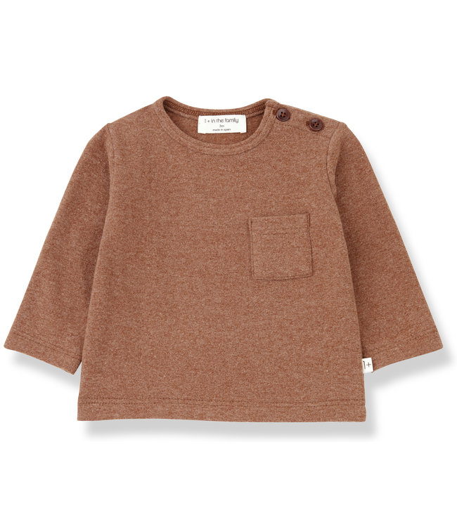 1+inthefamily Aneto t-shirt - toffee
