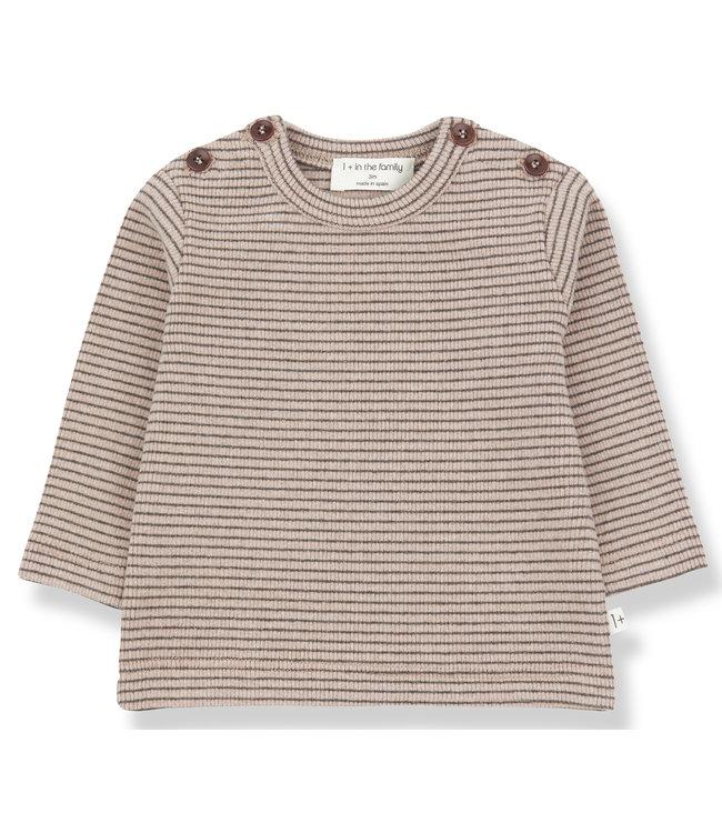 1+inthefamily Jasper t-shirt - rose/terrau