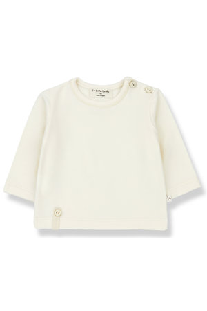1+inthefamily Noelle t-shirt long sleeve - ecru