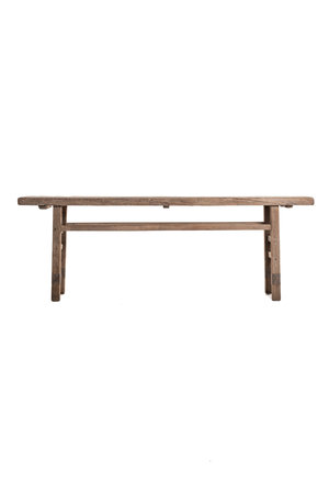 Sidetable  with thick top elm wood 242cm