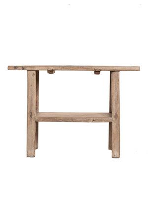 Sidetable met dubbele plank olm 117cm