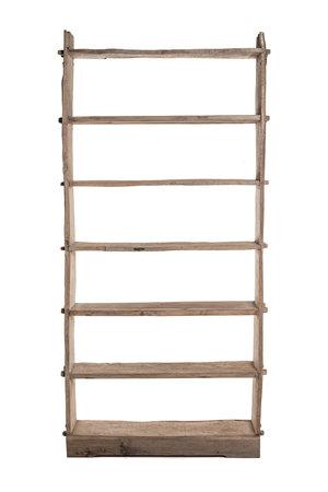 Hoge houten etagère, olm hout