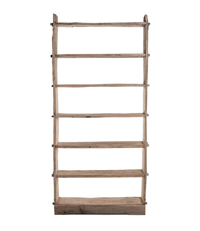 Hoog houten etagère, olm hout