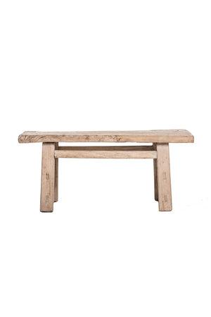 Small coffee table elm wood 103cm
