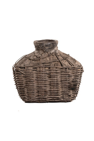 Wicker oil basket with clay - small