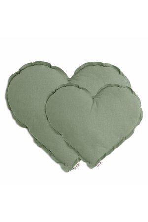 Numero 74 Heart cushion - sage green