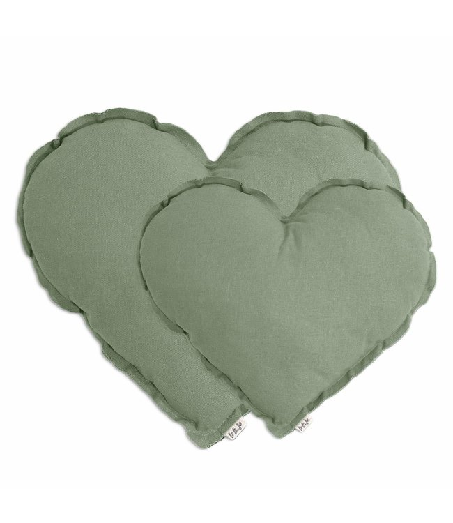 Numero 74 Heart cushion - sage green