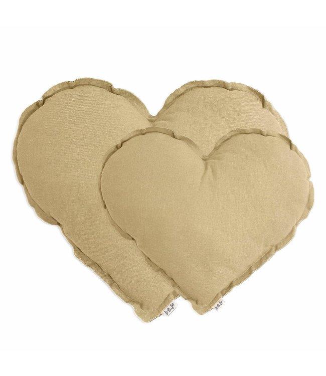 Heart cushion - mellow yellow