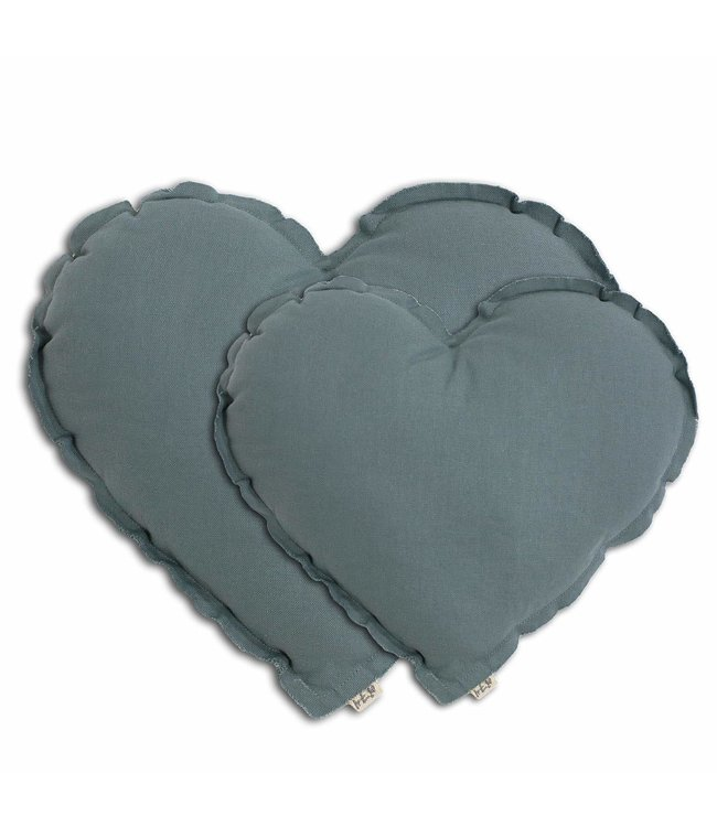 Hart kussen - ice blue