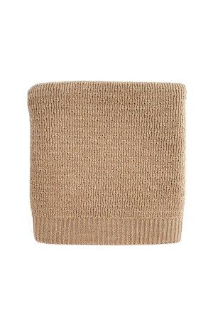 Hvid Blanket Dora - sand