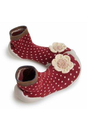 Collégien Pantoffels - mrs hudson met bloem