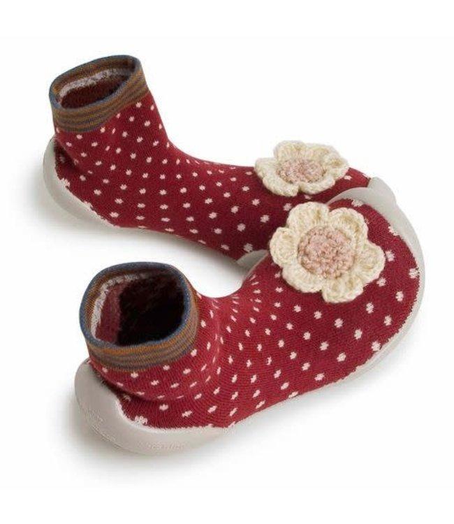 Pantoffels - mrs hudson met bloem