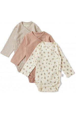 Konges Sløjd Nuevo 3 pack new born body - petit amour/striped/blush