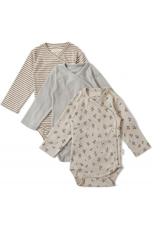 Konges Sløjd Nuevo 3 pack new born body - petit amour/striped/blue