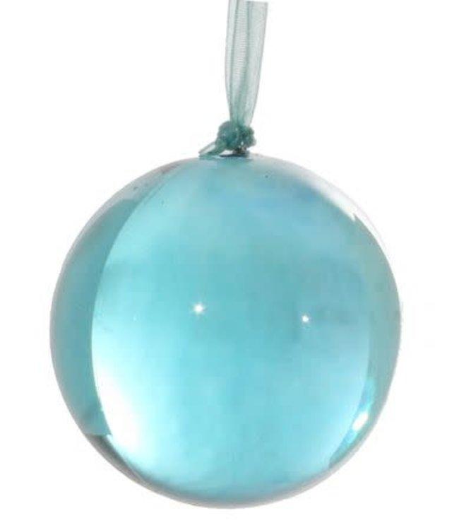 Kerstbal acryl - turquoise