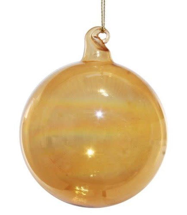 Glazen kerstbal goud
