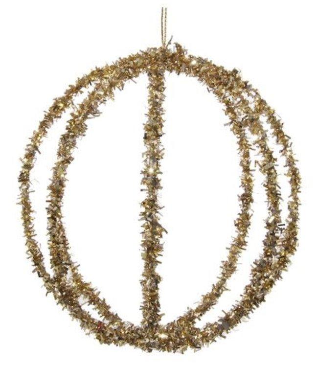 Kerstbal gouden draad
