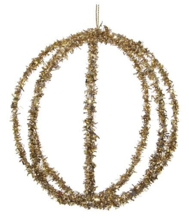 Wire tinsel ball gold