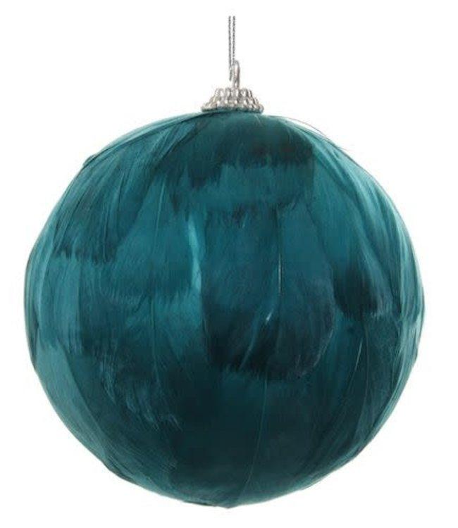 Feather ball green-blue