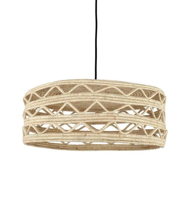 Raffia suspension lamp 'Mawja'