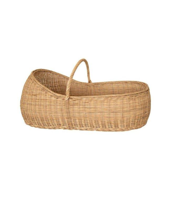 Lyra Moses basket with organic cotton cot mattress