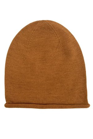 Hvid Beanie - roest