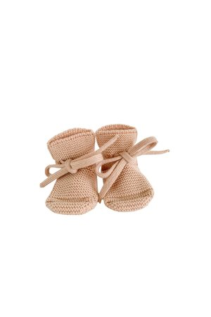 Hvid Booties - apricot