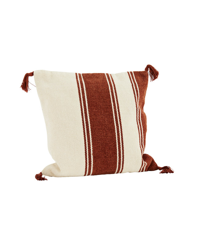 Chenille cushion - brick