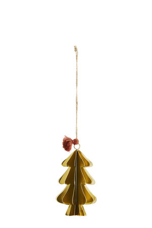 Hanging christmas tree L - gold