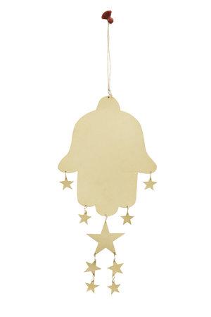 Fatima's hand met hangende sterren