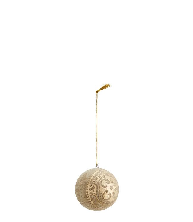Handpainted papier mache Christmas ball
