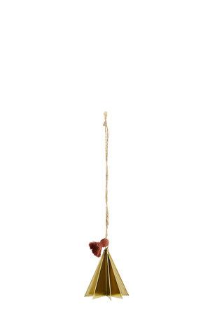 Hangende kerstboom S - goud