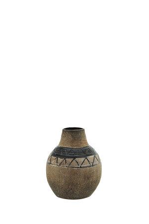 Vaas terracotta - bruin/zwart