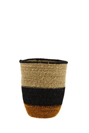 Basket seagrass - natural/black/orange