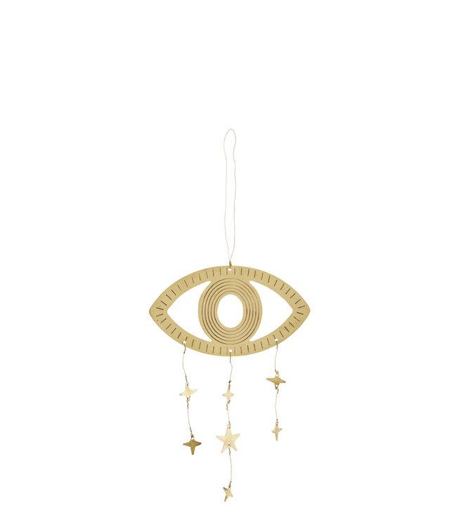Koperen oog met sterren