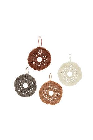 Cotton Christmas ornament - 4 colors