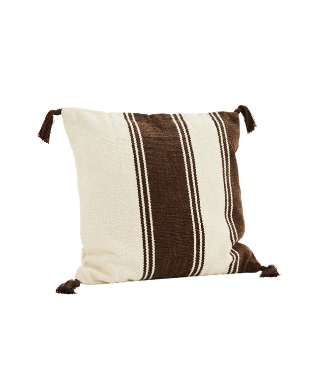 Chenille cushion - brown