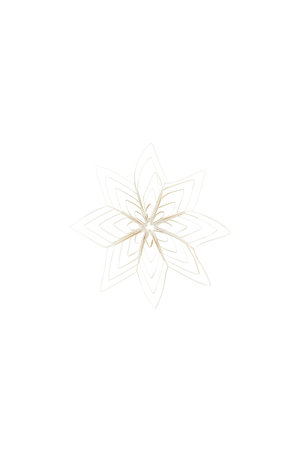 Christmas ornament - Ouilling - white