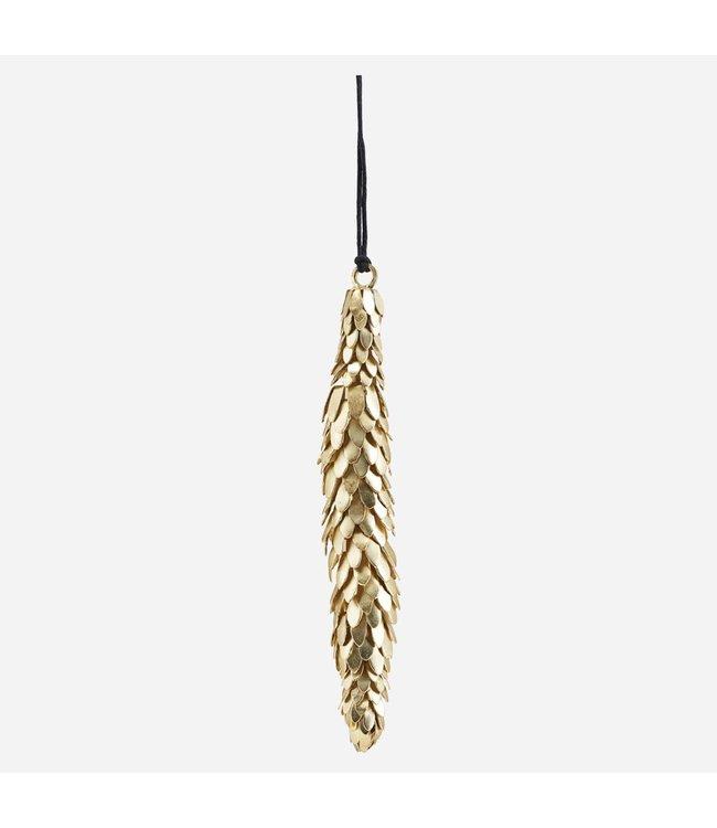 Christmas ornament - Corne - brass