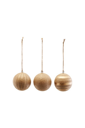 Kerstballen M - goud - set van 3