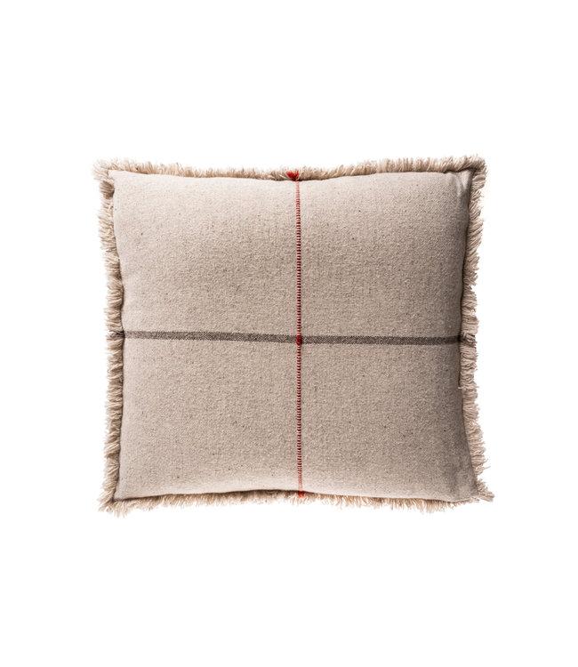 Teixidors Floor cushion Zabu Thor - grey/terracotta