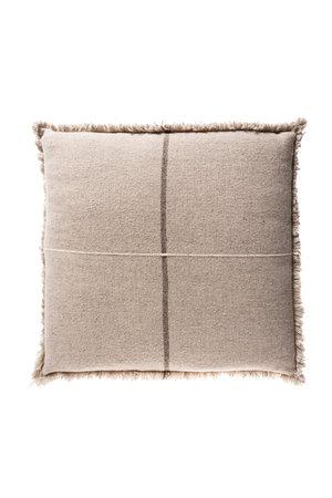 Teixidors Floor cushion Zabu Thor - grey/off-white