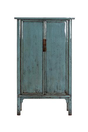 Blauwgelakte kast met 2 deuren