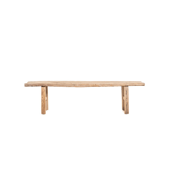 Bench weathered elm wood 193cm