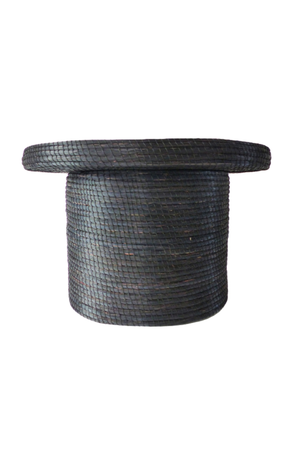 Bijzettafel Sahma zeegras - zwart
