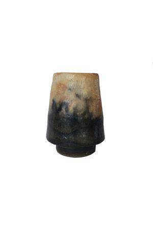 Vase 'Flem' terracotta - natural/black