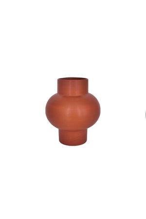 Vaas 'Bulb' gebakken klei - terracotta