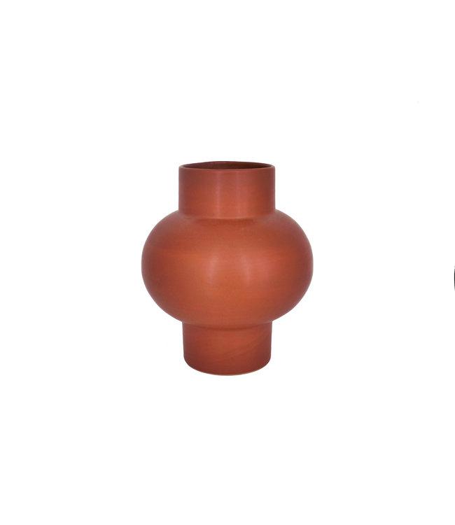 Vase 'Bulb' terracotta - terracotta